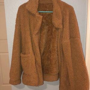 brown teddy coat!